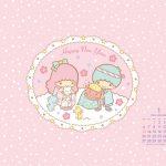 受保護的內容: Little Twin Stars Wallpaper 2014 一月桌布 日本官方月曆