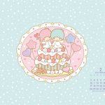 受保護的內容: Little Twin Stars Wallpaper 2014 二月桌布 日本官方月曆