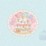 Little Twin Stars Wallpaper 2014 二月桌布 日本官方月曆