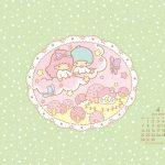 Little Twin Stars Wallpaper 2014 四月桌布 日本官方月曆