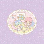 受保護的內容: Little Twin Stars Wallpaper 2014 六月桌布 日本官方月曆