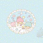 受保護的內容: Little Twin Stars Wallpaper 2014 七月桌布 日本官方月曆