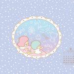 受保護的內容: Little Twin Stars Wallpaper 2014 八月桌布 日本官方月曆