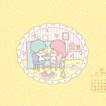 受保護的文章:Little Twin Stars Wallpaper 2014 十一月桌布 日本官方月曆