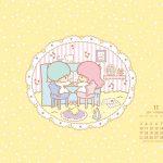 Little Twin Stars Wallpaper 2014 十一月桌布 日本官方月曆