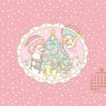 受保護的內容: Little Twin Stars Wallpaper 2014 十二月桌布 日本官方月曆