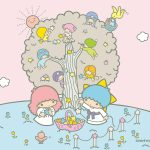 Little Twin Stars Wallpaper 2015 三月桌布 日本官方四十周年系列