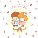 受保護的內容: Little Twin Stars Wallpaper 2015 四月桌布 日本官方四十周年系列