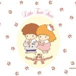 Little Twin Stars Wallpaper 2015 四月桌布 日本官方四十周年系列