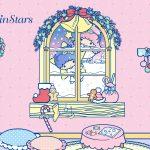 Little Twin Stars Wallpaper 2015 十一月桌布 日本官方四十周年系列