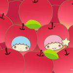 Little Twin Stars Wallpaper 2016 十一月桌布 日本官方Twitter票選蘋果樂園版