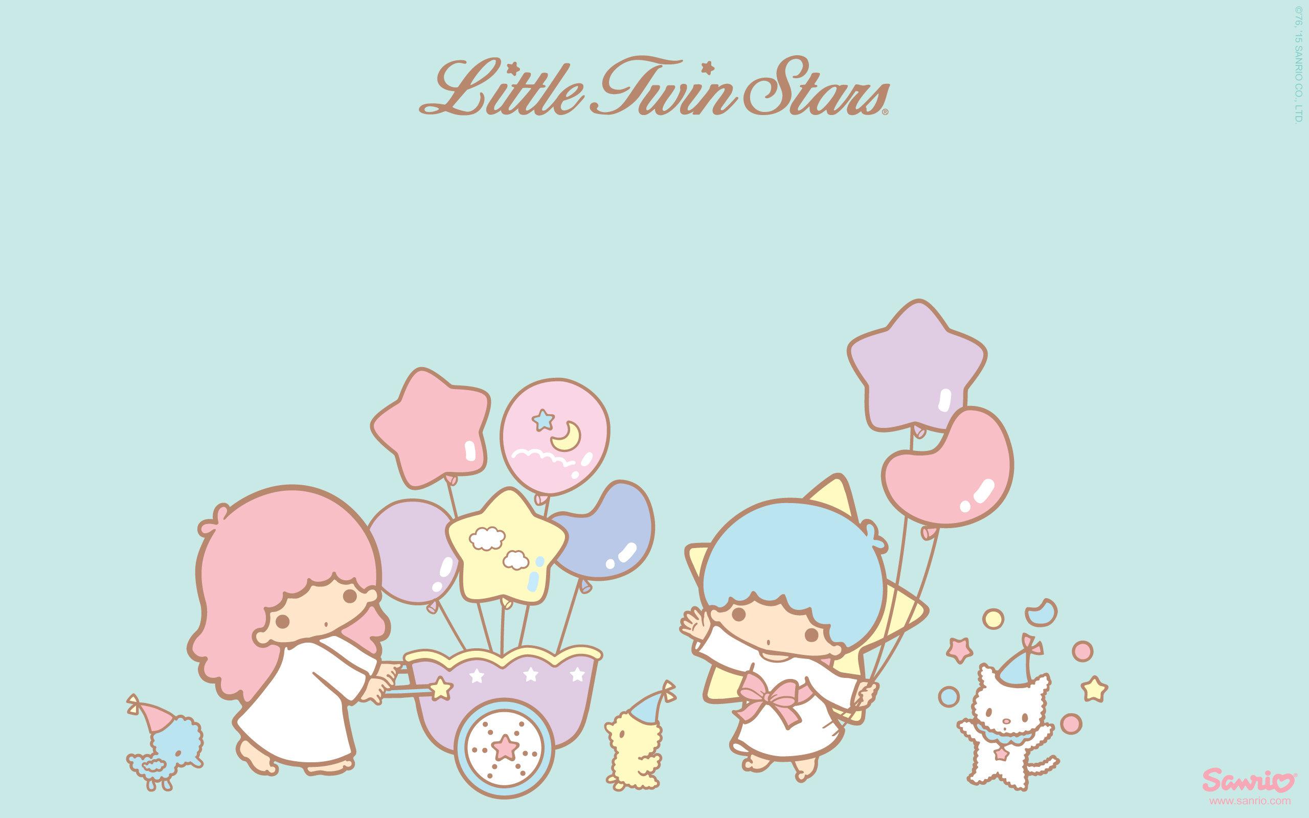 Little Twin Stars Wallpaper 2015 好康桌布 美國官方 C 款 – Stargazer Little Twin Stars Wallpaper 2013