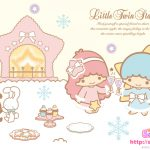 Little Twin Stars Wallpaper 2009 十二月桌布 日本 SanrioBB Present