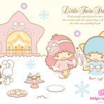 受保護的內容: Little Twin Stars Wallpaper 2009 十二月桌布 日本 SanrioBB Present