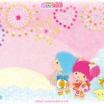 受保護的內容: Little Twin Stars Wallpaper 2011 八月桌布 日本 SanrioBB Present