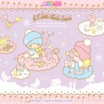 Little Twin Stars Wallpaper 2011 十二月桌布 日本 SanrioBB Present