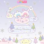 Little Twin Stars Wallpaper 2012 十二月桌布 日本 SanrioBB Present