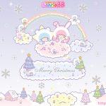 受保護的內容: Little Twin Stars Wallpaper 2012 十二月桌布 日本 SanrioBB Present