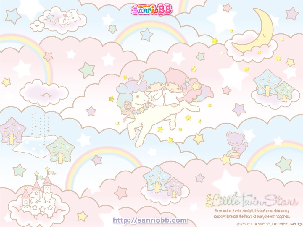 Little Twin Stars Wallpaper 2013 六月桌布 日本 SanrioBB Present ... Little Twin Stars Wallpaper 2013