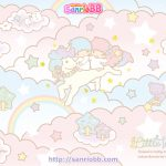 受保護的內容: Little Twin Stars Wallpaper 2013 六月桌布 日本 SanrioBB Present