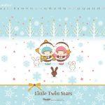 Little Twin Stars Wallpaper 2014 十二月桌布 台灣官方冬日版