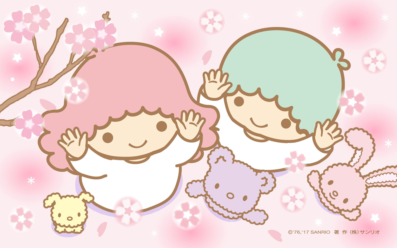 Little Twin Stars Wallpaper 2017 三月桌布 日本官方twitter票選春之櫻版