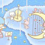 Little Twin Stars Wallpaper 2017 六月桌布 日本官方Twitter票選雨中音樂會版