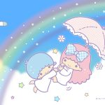 Little Twin Stars Wallpaper 2017 七月桌布 日本官方Twitter票選夏之虹版