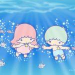 Little Twin Stars Wallpaper 2017 八月桌布 日本官方Twitter票選海洋暢泳版