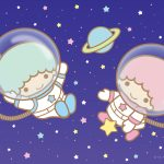 Little Twin Stars Wallpaper 2017 十一月桌布 日本官方Twitter票選太空人版