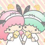 Little Twin Stars Wallpaper 2020 二月桌布 日本官方Twitter香蕉雪糕版